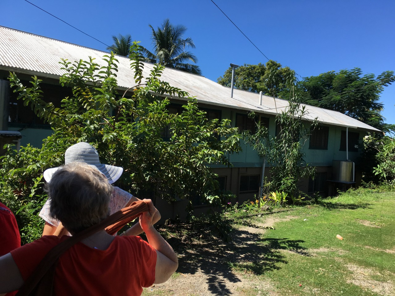 First visit to the South Seas Evangelical Church Transit House, Honiara
