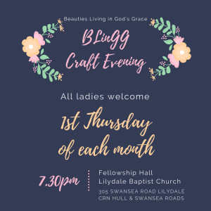 BLinGG Monthly Craft Night